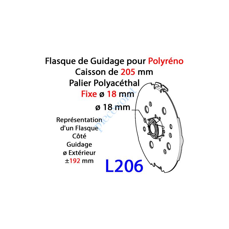 L206 Flasque Fixe  pour Polyréno 205