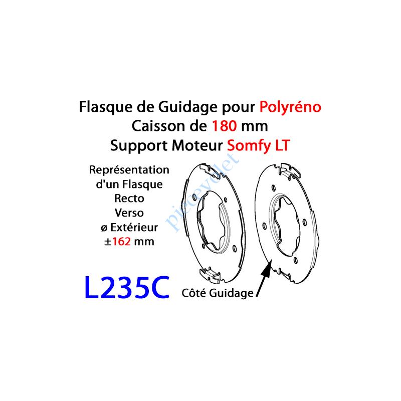 L235C Flasque Fixe Percé Embouti pour Tête Moteur LT Somfy pour Polyréno 180