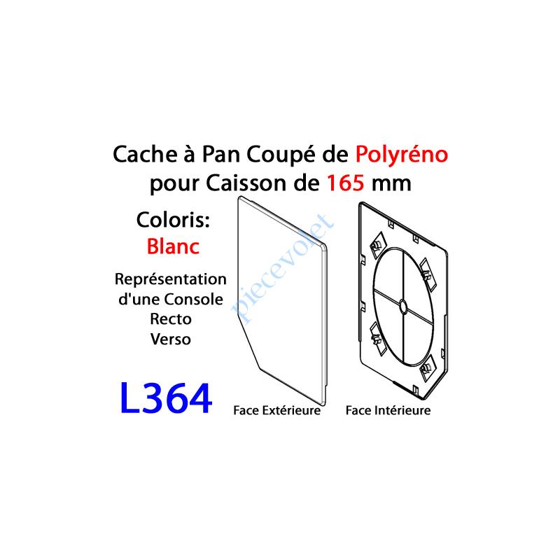L364 Cache à Pan Coupé Blanc pour Joue Polyréno de 165 (Paire)