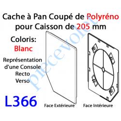 L366 Cache à Pan Coupé Blanc pour Joue Polyréno de 205 (Paire)