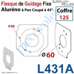 L431A Flasque Fixe Percé ø 60 mm pr Passage Tube pr Aluréno Pan Coupé à 45° de 125