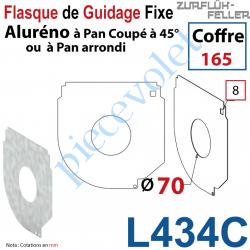 L434C Flasque Fixe Percé ø 70 mm pr Passage Tube pr Aluréno Pan Coupé à 45° de 165