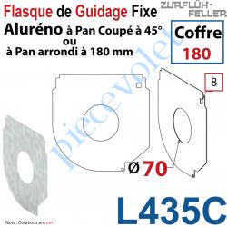 L435C Flasque Fixe Percé ø 70 mm pr Passage Tube pr Aluréno Pan Coupé à 45° & Arrondi de 180