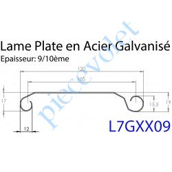 L7GXX09 Lame Plate P107 Galvanisée 9/10, pas de 107 mm