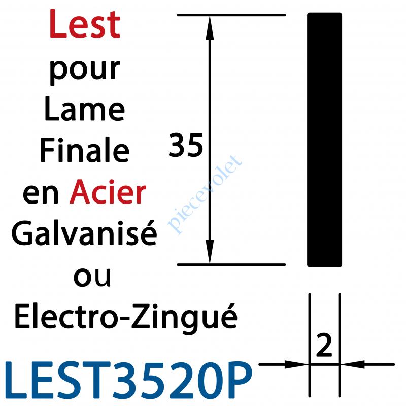 LEST3520P Lest Plat de 35 mm en Acier Galvanisé 20/10