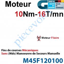 M45F120100 Moteur Geiger Filaire 10/16 Avec FdC Mécaniques Sans Manoeuvre de Secours