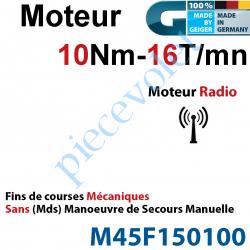M45F150100 Moteur Geiger Radio 10/16 Avec FdC Electroniques & Récepteur Radio Sans  Manoeuvre de Secours