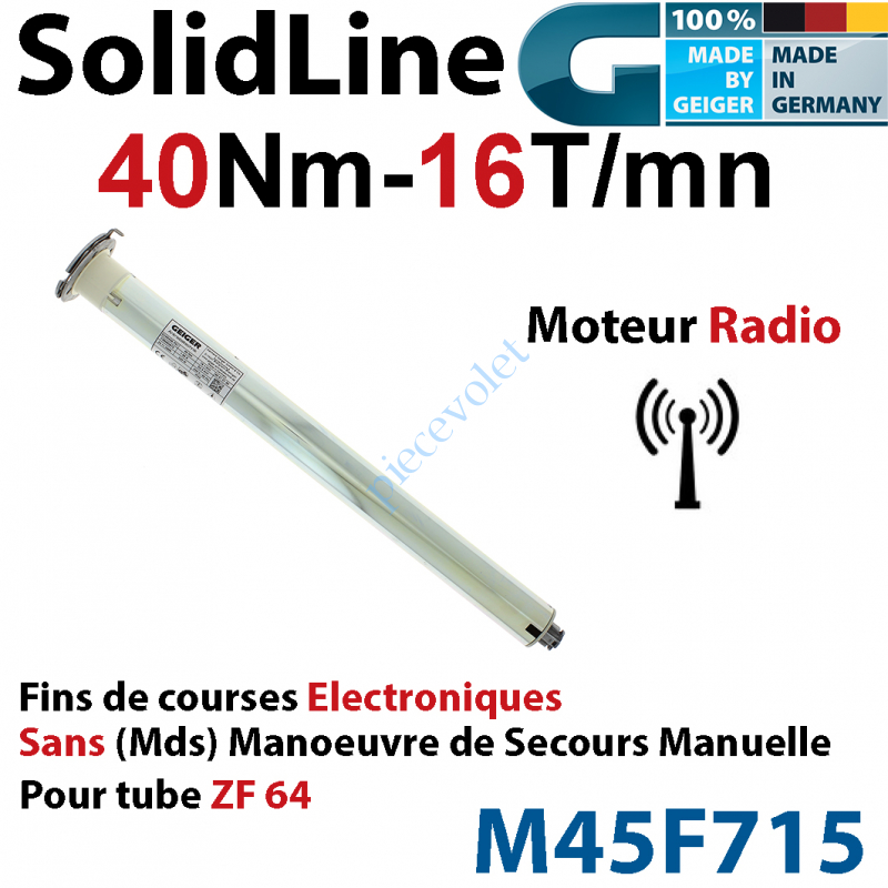 M45F715 Moteur Geiger Radio SolidLine 40/16 Av FdC Electroniques & Récepteur Radio Ss Mds p Tube Zf64