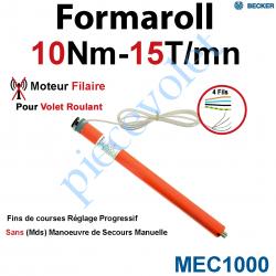 MEC1000 Moteur Formaroll Filaire Avec FdC à Réglage Progressif 10/15 sans Mds
