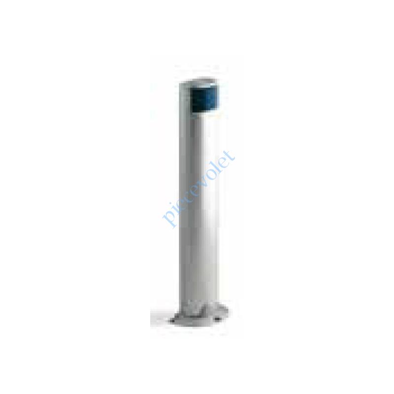 MOCF Colonne en Aluminium Anodisé Naturel Avec 1 Logement Protégé pour 1 PhotoCellule série MOF Hauteur 500 mm
