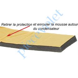 MOUSSDIAM25 Mousse de Calage du Condensateur Diamètre 25 mm en Polyéthylène Gris Largeur 25 mm Epaisseur 6 mm
