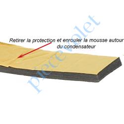 MOUSSDIAM30 Mousse de Calage du Condensateur Diamètre 30 mm en Polyéthylène Gris Largeur 25 mm Epaisseur 6 mm