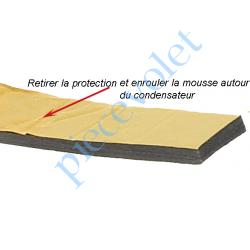 MOUSSDIAM35 Mousse de Calage du Condensateur Diamètre 35 mm en Polyéthylène Gris Largeur 25 mm Epaisseur 6 mm
