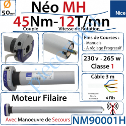 NM90001H Moteur Néo Nice Filaire MH 45/12 MH Avec Mds