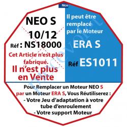 NS18000 Moteur Nice Filaire Néo S 10/12 S sans Mds:Remplacé par ES1011