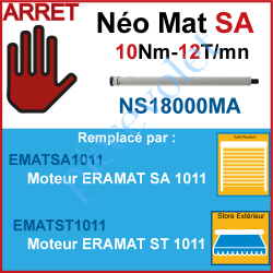 NS18000MA Moteur Nice Radio Néomat SA 10/12 Av FdC Electro & Radio  sans Mds