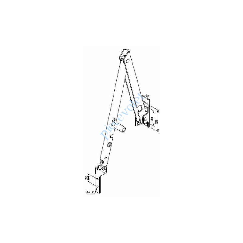 PC300-P90 Bras de projection Lg 300 Blanc