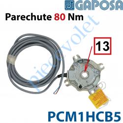 PCM1HCB5 Parechute Sécurité Réarmable 80 Nm Débrayable pendant Montage Entraînement Carré 13 Avec Contact Sécurité Câble Lg 5m S