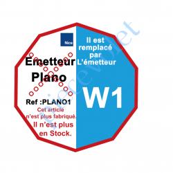 PLANO1 Emetteur Plano 1 Mural 3 Fonctions 1 Canal 433,92MHz Rolling Code , remplacé par la REF. W1