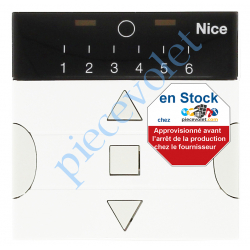 PLANO6 Emetteur Plano 6 Mural 3 Fonctions 6 Canaux 433,92MHz Rolling Code