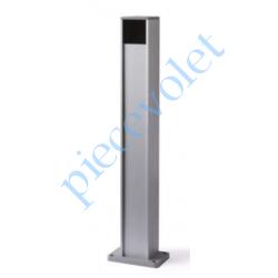 PPH3 Colonne en Aluminium Anodisé Naturel Avec 1 Logement Protégé pour 1 PhotoCellule série Medium Hauteur 500 mm