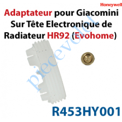 R453HY001 Adaptateur pour Giacomini sur Tête Electronique de Radiateur HR92 pour Système EvoHome