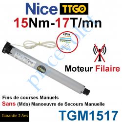 TGM1517 Moteur TT Go Filaire 15/17 Avec FdC Manuels Série M (Medium ø45mm) sans Mds