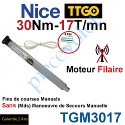 TGM3017 Moteur TT Go Filaire 30/17 Avec FdC Manuels Série M (Medium ø45mm) sans Mds