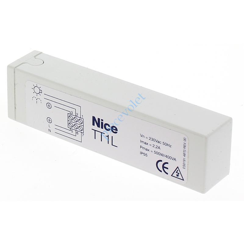 TT1L Récepteur Mini Eclairage 230 vca 1 canal 433,92MHz Rolling Code Sortie 500 w ip 55