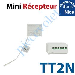 TT2N Récepteur Mini Volet Roulant 230 vca 1 canal 433,92MHz Rolling Code 3 Fonctions Sortie 500 w ip 55