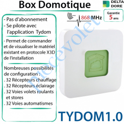 Tydom1.0 Box Domotique Tydom 1.0 Delta Dore X3D à Connecter à Internet