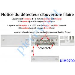 UIM9700 Détecteur d'Ouverture à Visser Coloris Blanc pour Alarme Filaire