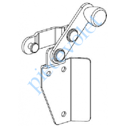 VS105D/P90 Loquet Tendeur Droit (Non Déporté) Av Supp Alu Laq Blanc pr Jalousie Pvc