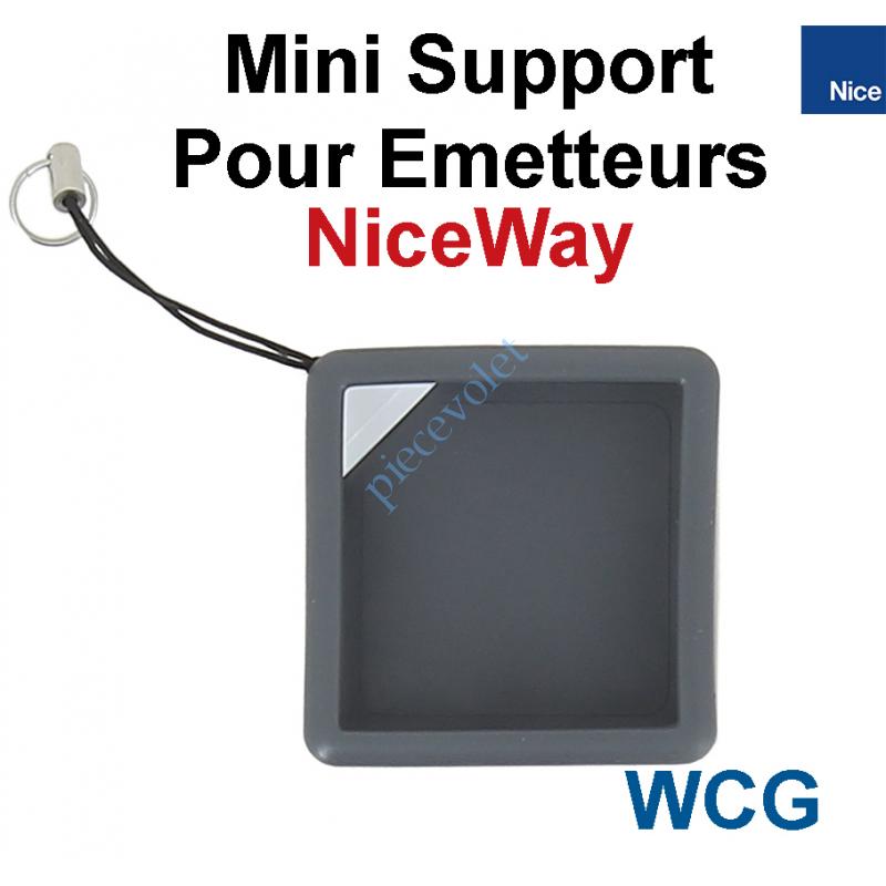 WCG Mini Support de Protection pour Emetteur NiceWay Coloris Graphite