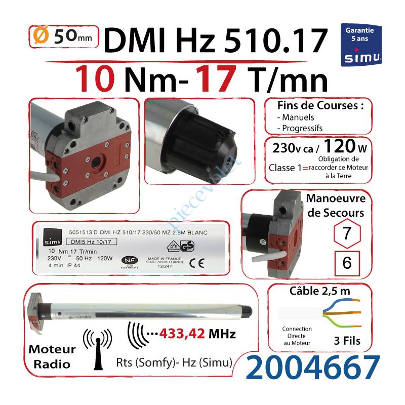 2004667 Moteur Simu Radio Hz01 DMI5 10/17 Avec Mds
