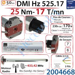 2004668 Moteur Simu Radio Hz01 DMI5 25/17 Avec Mds