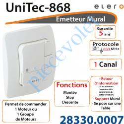 Emetteur Mural UniTec-868 Avec Retour d'informations...