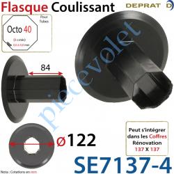 Flasque Coulissant Diamètre Extérieur 122 mm pour Tube...