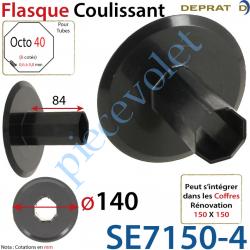Flasque Coulissant Diamètre Extérieur 140 mm pour Tube...