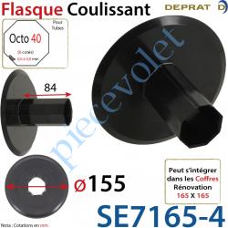 Flasque Coulissant Diamètre Extérieur 155 mm pour Tube...