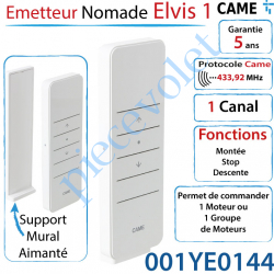 Emetteur Nomade Elvis1 Came Avec Support Blanc 1 Canal...