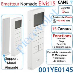 Emetteur Nomade Elvis15 Came Avec Support Blanc 15 Canaux...