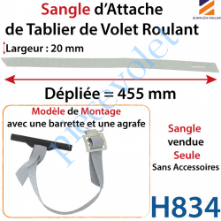 ZF Sangle d'attache de Tablier Largeur 20 mm