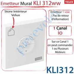 Emetteur Mural Radio io Kli 312 Ww pour Store Intérieur...