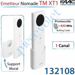 Emetteur Nomade 1 Canal TM XT1 433MHz Rolling Code Avec...