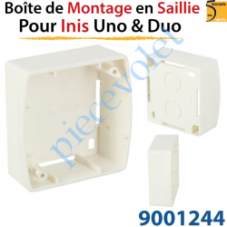 Boîtier de Montage en Saillie de 30 mm Coloris Blanc pour...