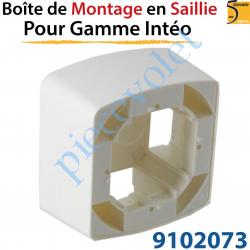 Boîtier de Montage en Saillie de 43,5 mm Coloris Blanc...