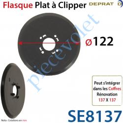 Flasque Plat Diamètre Extérieur 122 mm à Clipper sur...