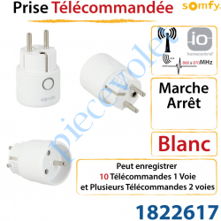 Prise Radio Télécommandée Marche - Arrêt Somfy io ou Simu...