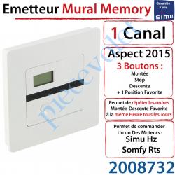 Emetteur Mural Memory Aspect 2015 Simu Hz-Rts Blanc (1...